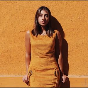 Dresses & Skirts - Yellow suede dress